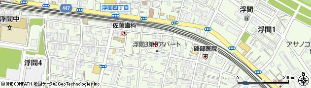 東京都北区浮間周辺の地図