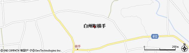 山梨県北杜市白州町横手周辺の地図
