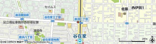 皿沼2周辺の地図
