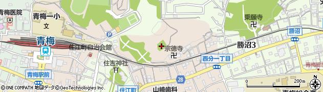 西分神社周辺の地図