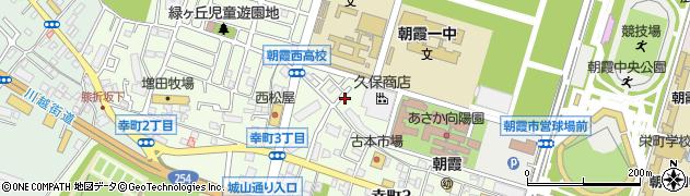 埼玉県朝霞市幸町3丁目周辺の地図