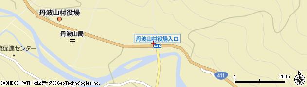 丹波山村役場入口周辺の地図