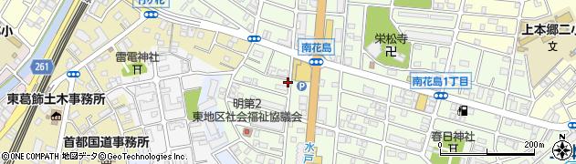 千葉県松戸市南花島周辺の地図