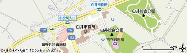 千葉県白井市周辺の地図