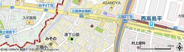 東京都板橋区三園周辺の地図
