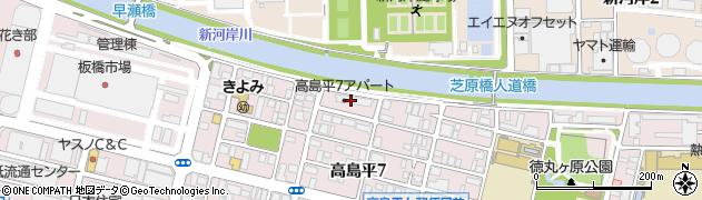 区営高島平七丁目アパート周辺の地図