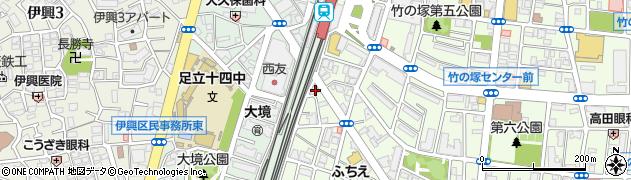 飛来周辺の地図