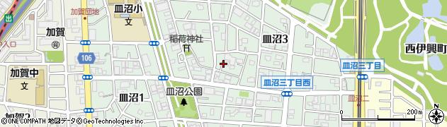 東京都足立区皿沼周辺の地図