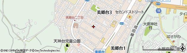 千葉県成田市美郷台周辺の地図