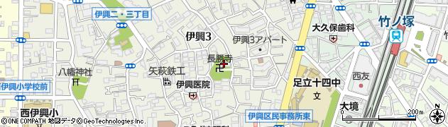 長勝寺周辺の地図
