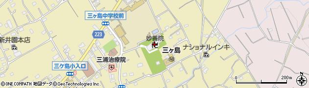 妙善院周辺の地図