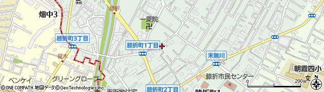 埼玉県朝霞市膝折町周辺の地図
