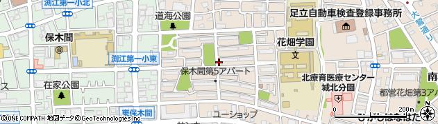 都営保木間第5アパート周辺の地図