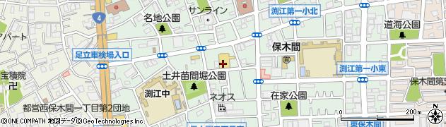 東京都足立区保木間周辺の地図