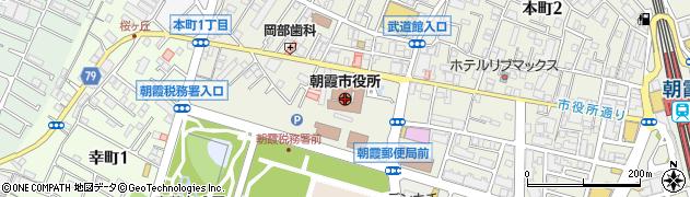 埼玉県朝霞市周辺の地図