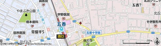千葉県松戸市金ケ作周辺の地図