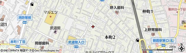 埼玉県朝霞市本町周辺の地図