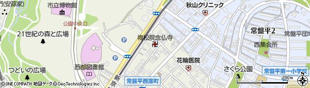 梅松院念佛寺周辺の地図