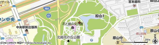 千葉県印西市原山1丁目周辺の地図