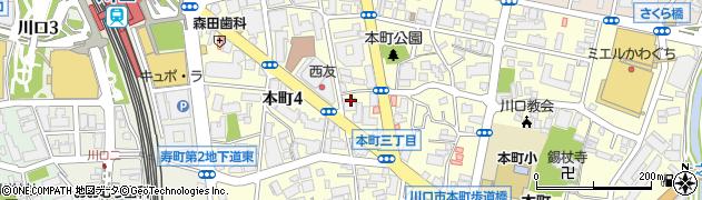 川口不動尊周辺の地図