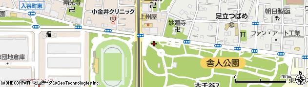 東京都足立区舎人町周辺の地図