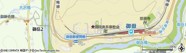 東京都青梅市御岳本町242周辺の地図
