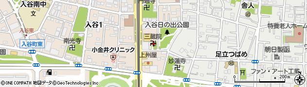 三蔵院周辺の地図