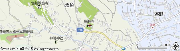 塩船寺周辺の地図