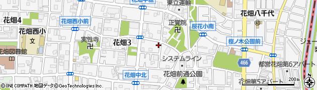 東京都足立区花畑周辺の地図