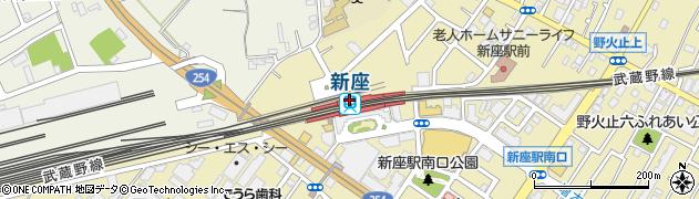 埼玉県新座市周辺の地図