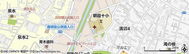 埼玉県朝霞市溝沼周辺の地図