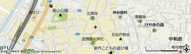 千葉県松戸市新作周辺の地図