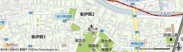 東京都足立区東伊興周辺の地図