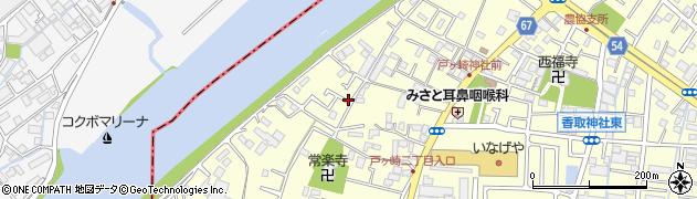 埼玉県三郷市戸ヶ崎周辺の地図