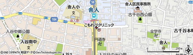 舎人小東周辺の地図