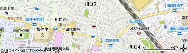 埼玉県川口市川口周辺の地図