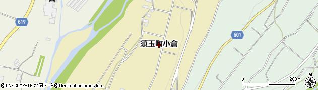 山梨県北杜市須玉町小倉周辺の地図