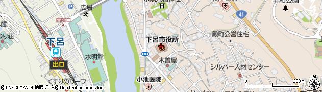 岐阜県下呂市周辺の地図