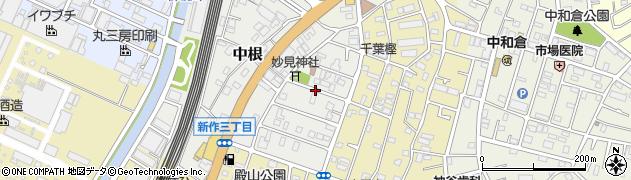 千葉県松戸市中根周辺の地図