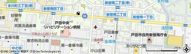 埼玉県戸田市新曽南周辺の地図