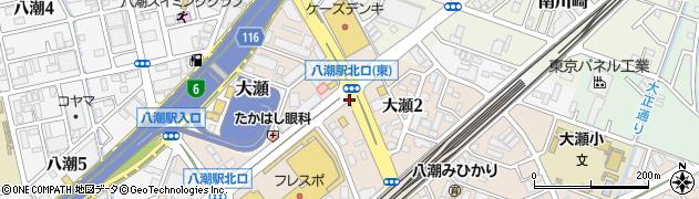 八潮駅北口(東)周辺の地図