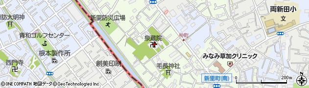 泉蔵院周辺の地図