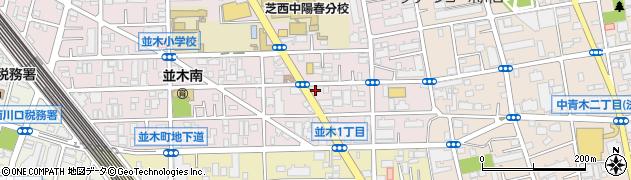 埼玉県川口市並木1丁目周辺の地図