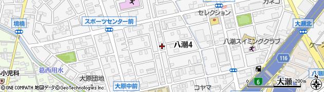 埼玉県八潮市八潮周辺の地図