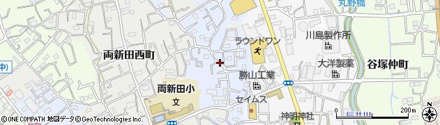 埼玉県草加市両新田東町周辺の地図