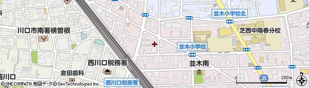 埼玉県川口市並木1丁目19-27周辺の地図