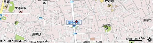 埼玉県草加市瀬崎周辺の地図