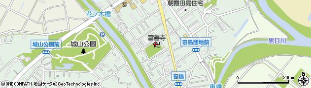 冨善寺周辺の地図