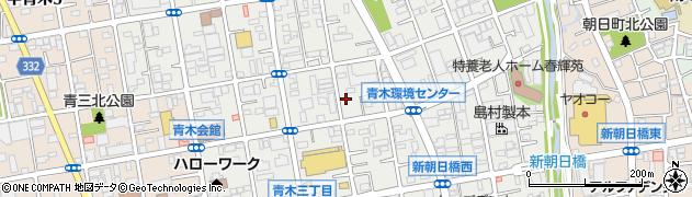埼玉県川口市青木周辺の地図