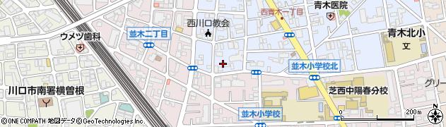 埼玉県川口市西青木1丁目周辺の地図